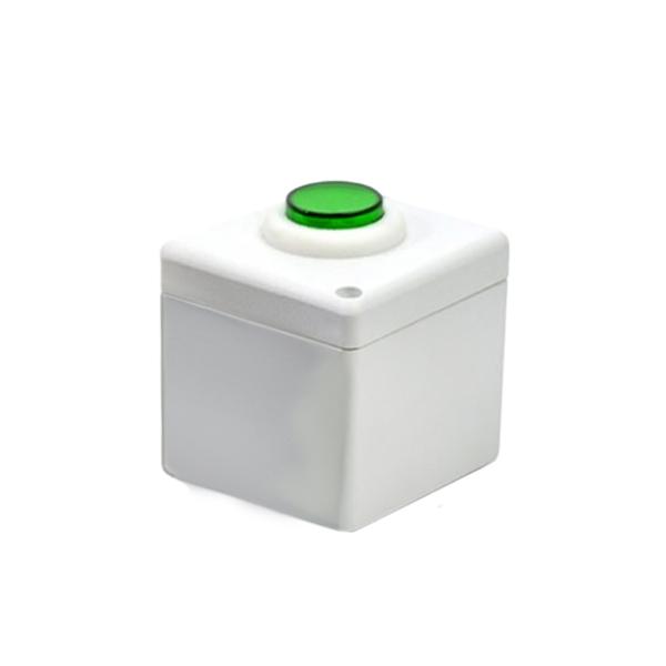 Botoeira NA/NF Branco com Verde - Stilus
