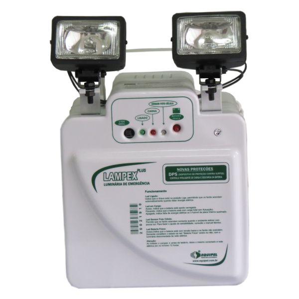 Lampex - Luz de Emergência com 2 Faróis de 55w - Equipel